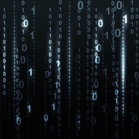listing: Twinkle binary code screen listing table on black background