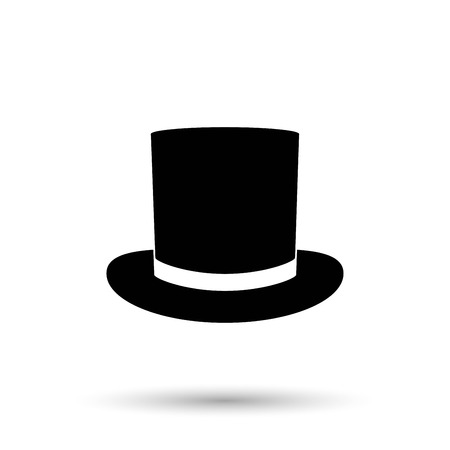tophat: Top hat icon vector