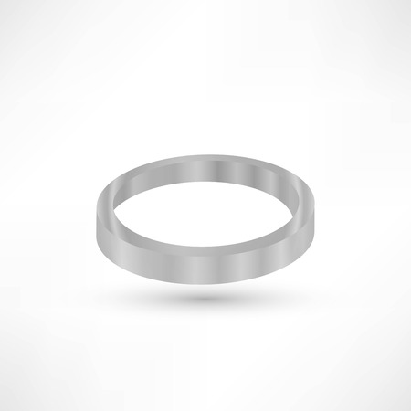 silver ring: Silver ring copyspace torus round eps10 vector empty frame Illustration