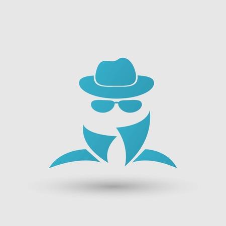anonymous: Black icon of anonymous spy agent