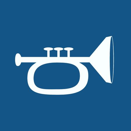 brass wind: Vector illustration of trumpet Illustration