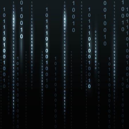 Twinkle binary code screen listing table on black background