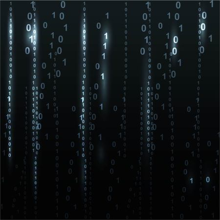 cryptogram: Twinkle binary code screen listing table on black background