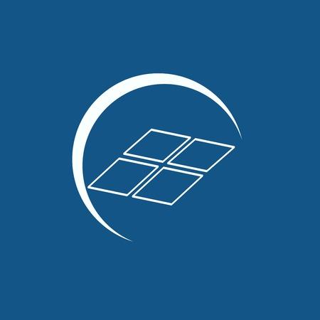 new generation: solar panel icon Illustration