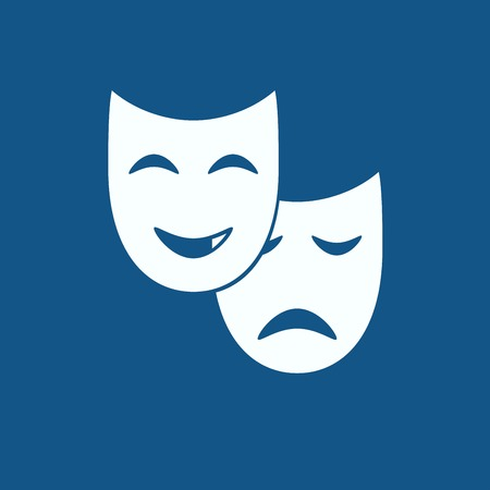 comedy mask: Comedy mask Icon Illustration