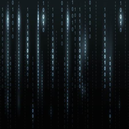 listing: Twinkle binary code screen listing table on black background