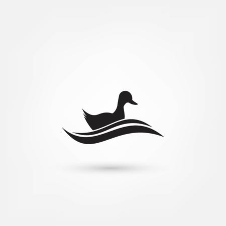 waterfowl: the figure shows the duck