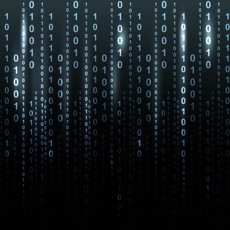 cypher: Twinkle binary code screen listing table on black background
