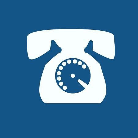 telephone: Telephone vector icon isolated