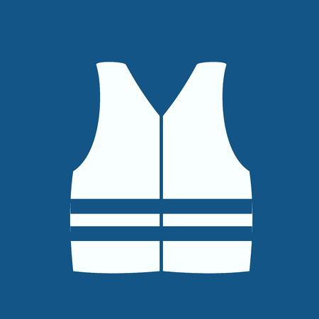 safety vest: Safety vest icon Illustration