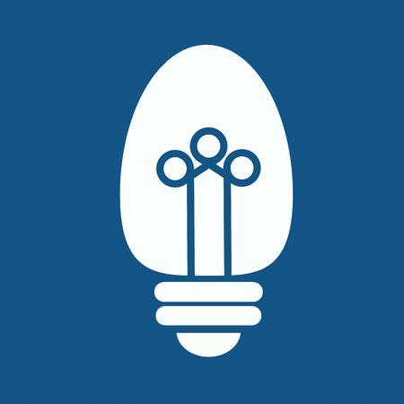 scriibble: Light bulb vector icon Illustration