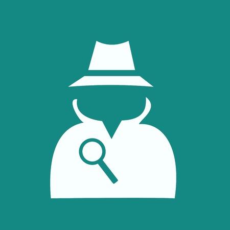 Man in suit. Secret service agent icon Vektoros illusztráció