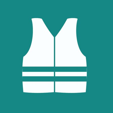 life jackets: Safety vest icon Illustration