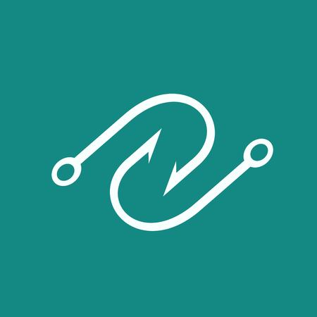 the hook: Hook icon Illustration