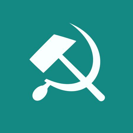 hammer and sickle: hammer and sickle isolated