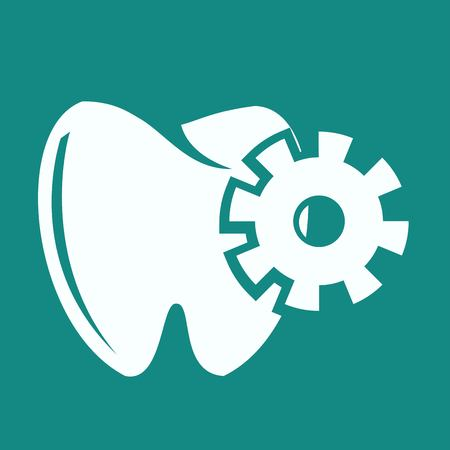 mouth pain: Tooth Icon Illustration