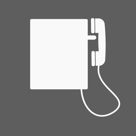 hear business call: Telephone vector icon isolated