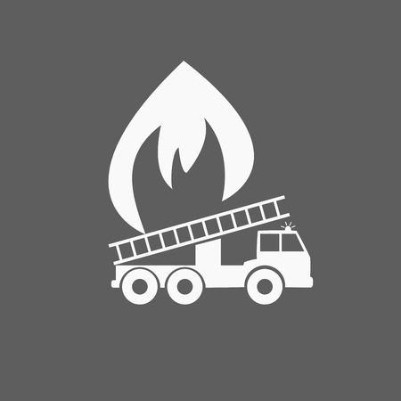 Icono de camión de bomberos