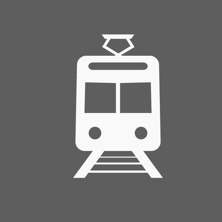 metro train: Train outline vector
