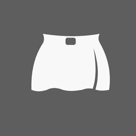 supermodel: skirt icon Illustration