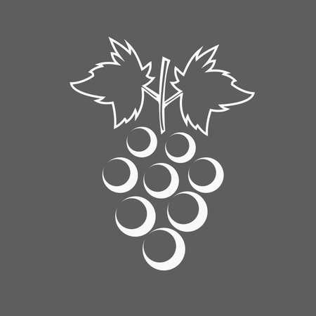 Grona grapes icon Illustration