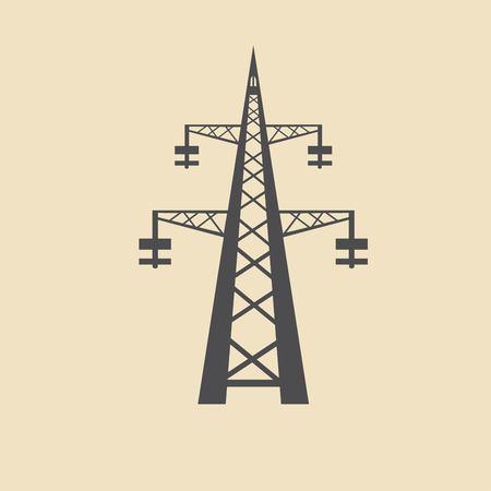 telephone pole: Electricity icon Illustration