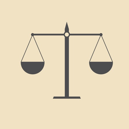 scale of justice: Justice scale icon Illustration