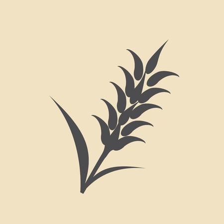 Uszy pszenicy, jęczmienia i żyta wizualnych ikon graficznych, idealne do pakowania chleba Ilustracje wektorowe