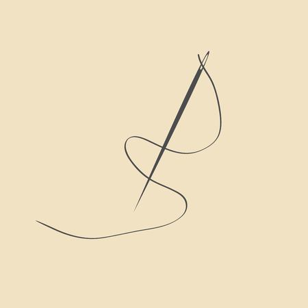coser: icono de la aguja