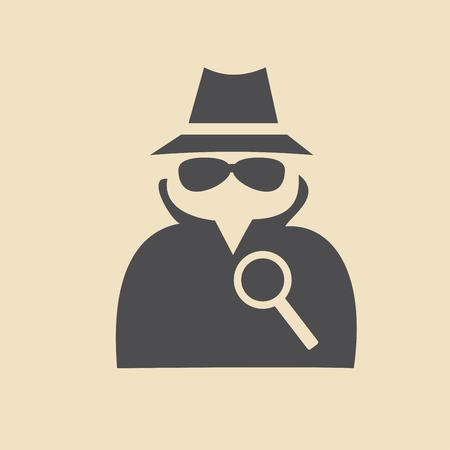 secret service: Man in suit. Secret service agent icon Illustration