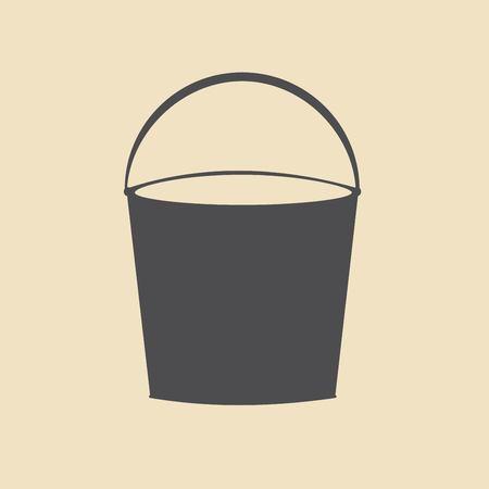 bin tub: bucket icon