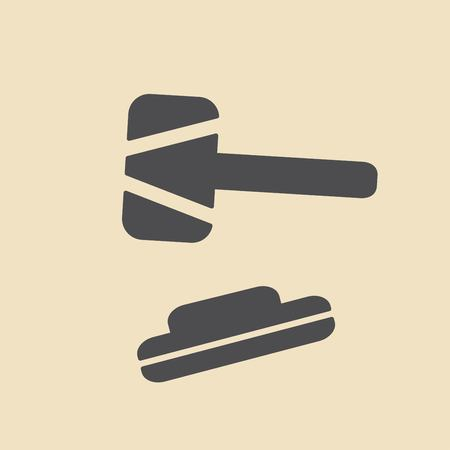 counsel: Hammer of justice - vector icon Illustration