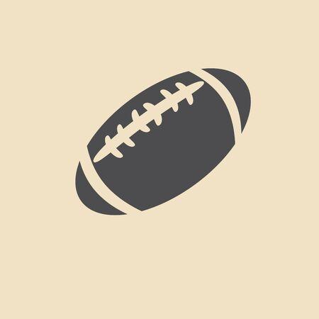 college footbal: american football ball icon Illustration