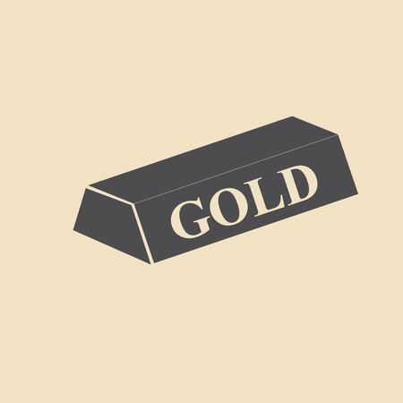 gold bullion: A simple icon of gold bullion