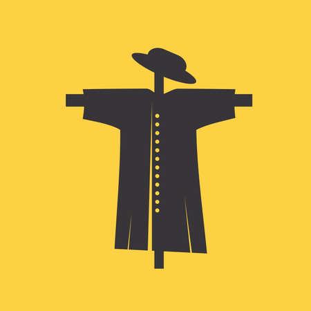 espantapájaros: Icono del espantapájaros Vectores