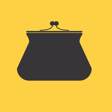 hand silhouette: Purse icon