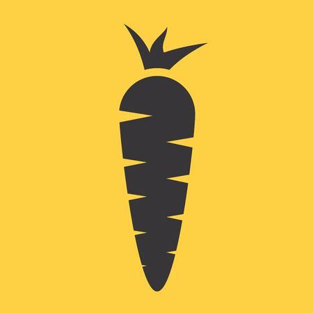 zanahoria caricatura: Zanahoria Icono Vectores