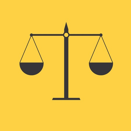 acquit: Justice scale icon Illustration