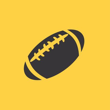 footbal: american football ball icon Illustration