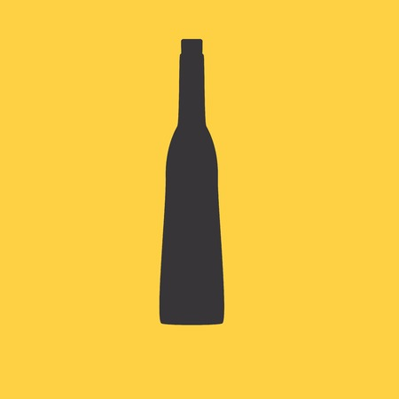 cosmo: wine bottle sign. Silhouette