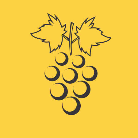 peasant household: Grona grapes icon Illustration