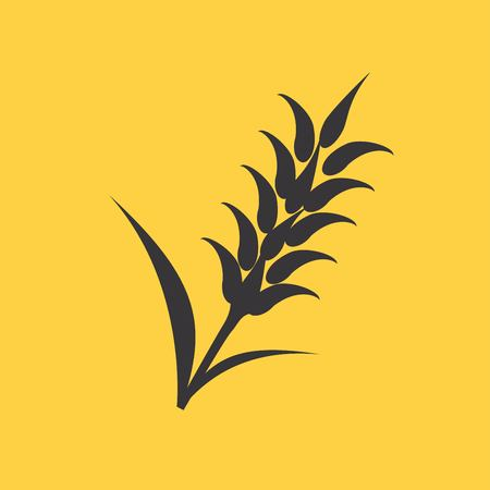 Ears of Wheat, Barley or Rye visual graphic icons, ideal for bread packaging