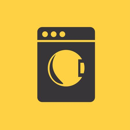 major household appliance: washing machine icon. Vector illustrator