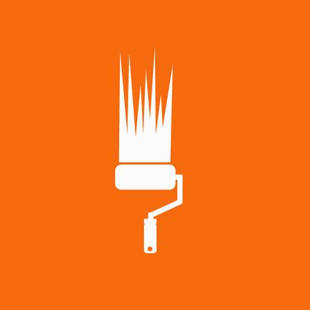 renewing: Paint roller icon Illustration