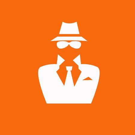 fake mask: Secret service agent icon Illustration