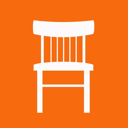 office cubicle: Modern vector office chair graphic