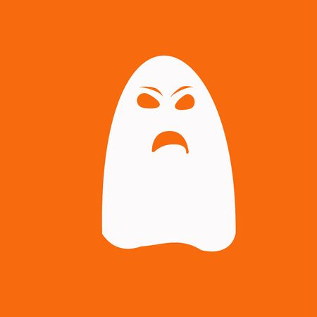 spook: ghost icon Illustration