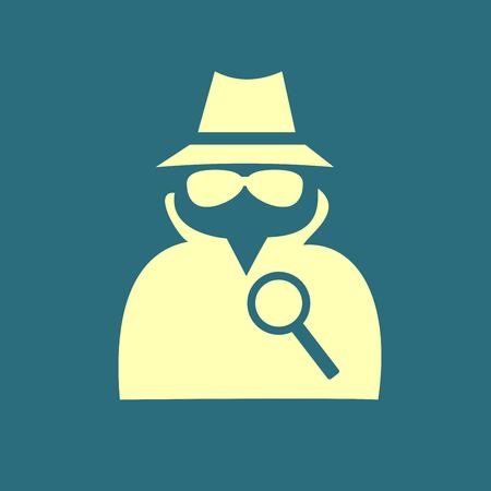 spy: Secret service agent icon Illustration