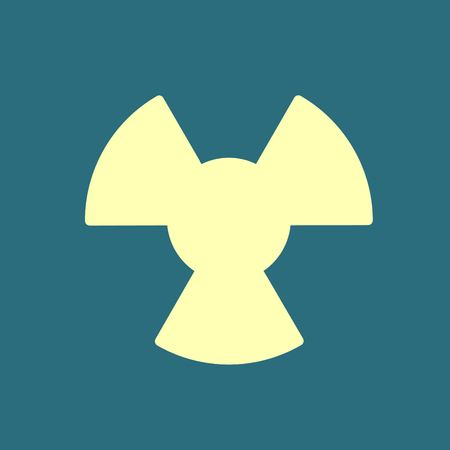 cray: radiation icon. Radiation symbol.
