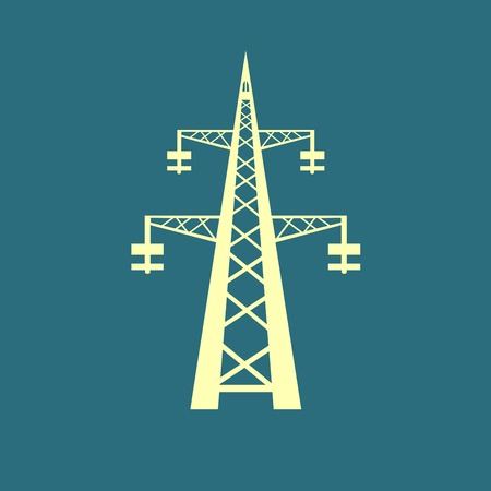 insulators: Power transmission tower icon Illustration